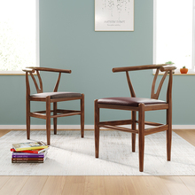 Nordic INS imitation wooden dining chair American retro home coffee restaurant bedroom study leisure simple wood