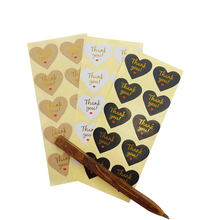 1000Pcs/lot  Love Hot Stamping Thank You Red Heart Seal Three Selections For Homemade Bakery Gift Packaging