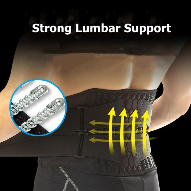 Lumbar Waist Support Belt Strong Lower Back Brace Support Corset Belt Waist Trainer Sweat Slim Belt for Sports Pain Relief New 2
