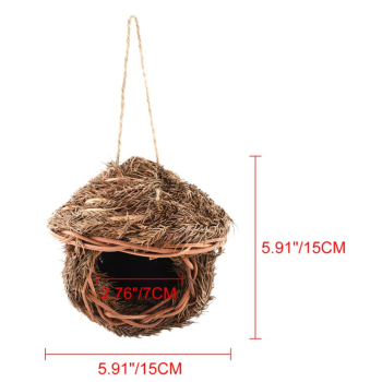 Bird Cage Accessories Decoration Hand Weave Bird House Parrot Hanging Swing Toys Ecology Nest 2