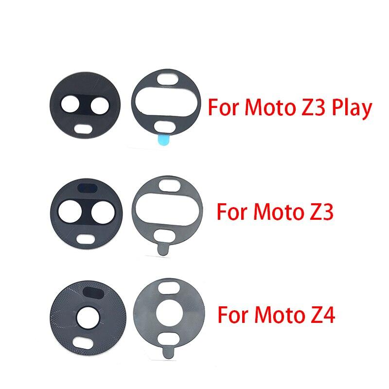 Rear Back Camera Glass Lens For Motorola Moto Z4 Z3 Play Camera Glass With Glue Adhesive