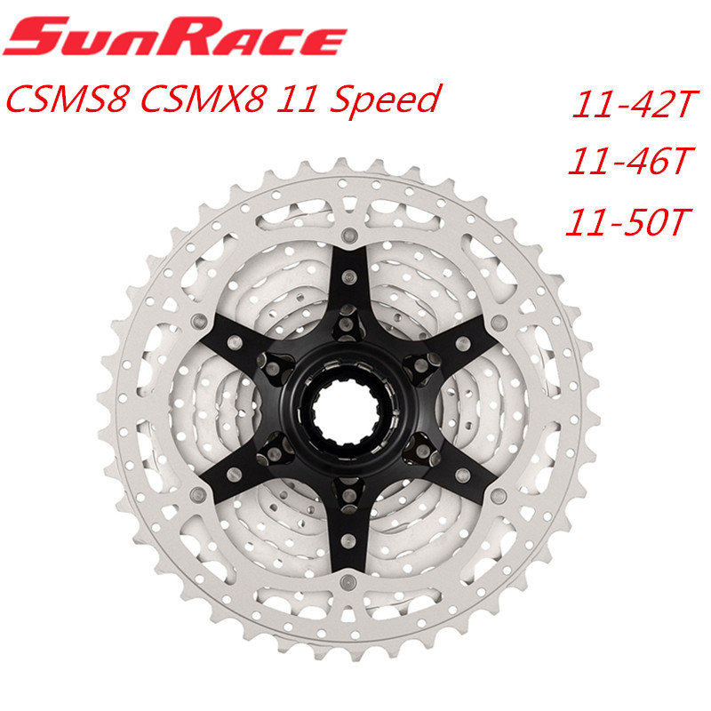 Sunracing CSMS8 CSMX8 CSMX80 11 скоростной широкий диапазон велосипедная кассета горный велосипед freewheel 11-42T 11-46T 11-50T