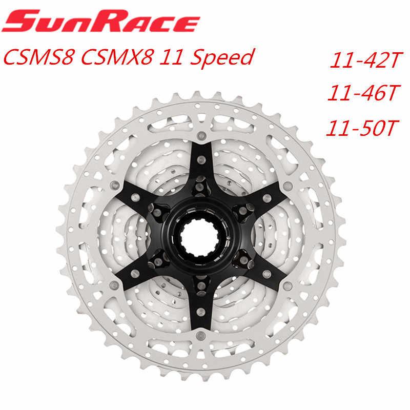 Sunracing CSMS8 CSMX8 CSMX80 11 سرعة نسبة واسعة دراجة دراجة كاسيت دراجة جبلية حرة عجلة 11-42T 11-46T 11-50T
