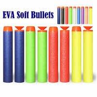 50/100 Uds 7,2 cm EVA suave balas para Nerf Agujero hueco la recarga de los dardos de juguete al aire libre niños pistola para la serie Blasters regalos para los niños