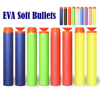 50/100Pcs 7.2cm EVA Soft Bullets For Nerf Hollow Hole Head Refill Darts Outdoor Toy Boys Gun For Series Blasters Children Gifts