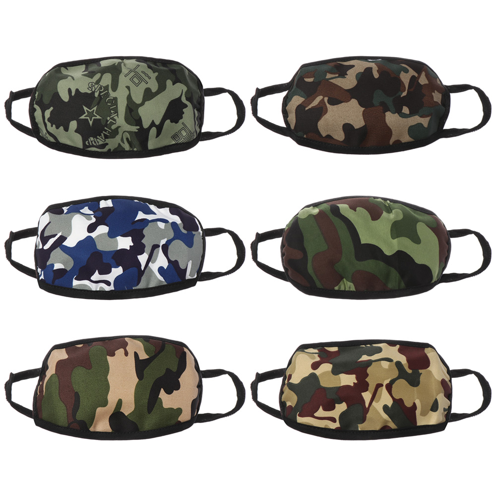 1Pcs Random Send Camouflage Dustproof Mouth Mask Double-Deck  Anti-Fog And Haze Health Care Face Respirator Polyester