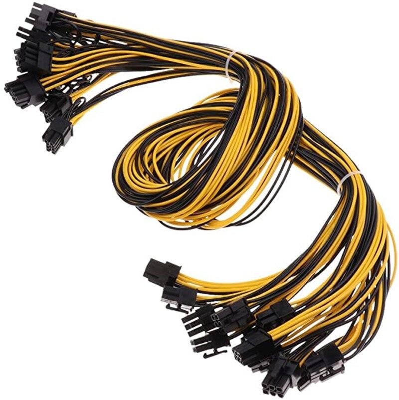 PCIe 6-контактный до 8-контактный (6 + 2) штекер-штекер PCI-E кабель питания для блока питания GPU адаптер для блока питания для майнинга Ethernet