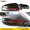 W205 AMG красная линия Стиль углеродного волокна замена зеркала крышка для Benz C class C180 C200 C250 2014-2017 год LHD Автомобильная крышка заднего зеркала