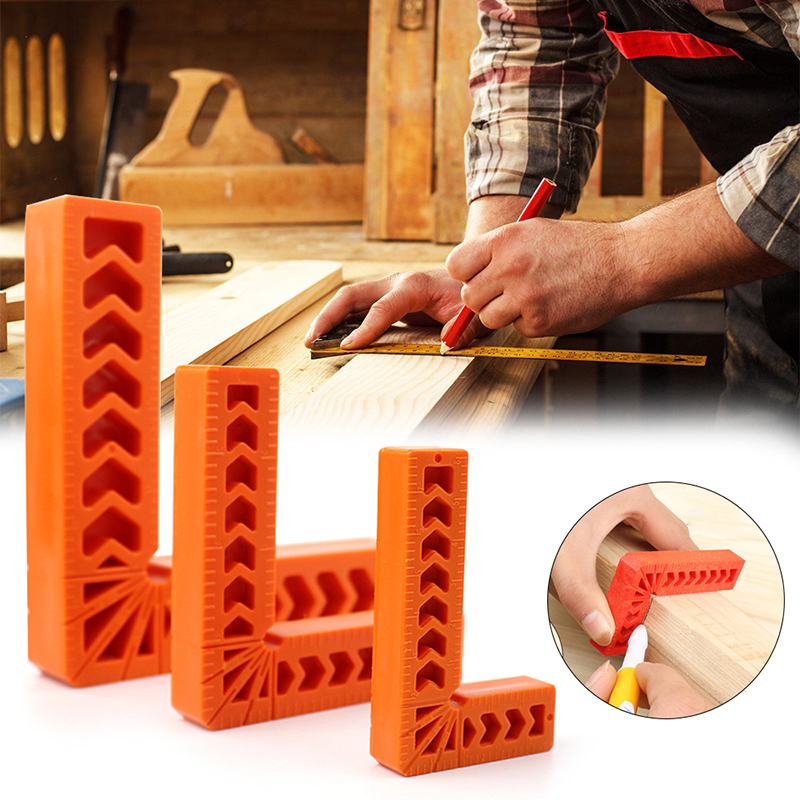 90 Degree Positioning Squares Plastic Clamping Square Right Angle Clamp Woodworking Carpenter Tool