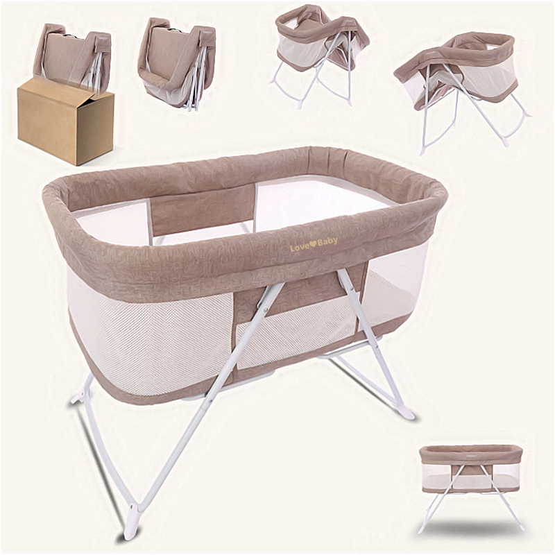 Newborn Multifunctional Cradle Bed Protable Easy Fold Baby Crib With Mosquito Net New Baby Bassinet Bed Crib 0-12month