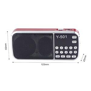 Image 3 - جديد حار راديو محمول عالية الطاقة مشغل MP3 الصوت الرقمي مشغل موسيقى مع مصباح ليد جيب