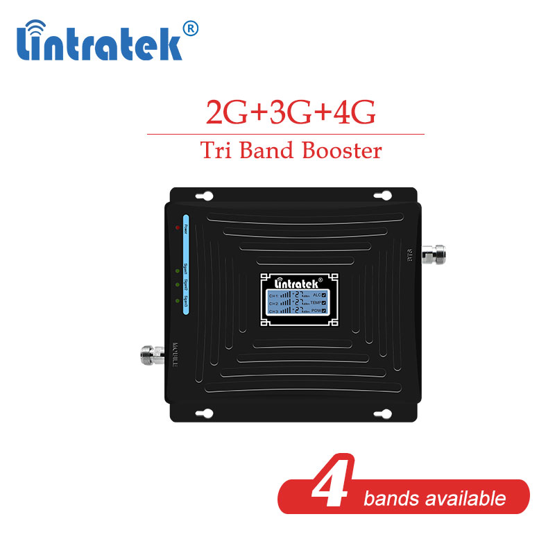 CDW 850 1800 2100 2G 3G 4G Tri Band GSM 900 2G 3G 1800 4G 850mhz DCS  Cellular Booster Repeater Mobile Phone Signal Amplifier S8