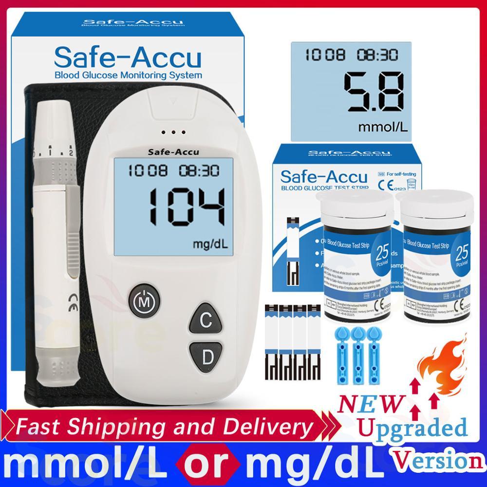 Accu blood glucose meter 50/100pcs Test Strips Lancets Glucometer kit for Diabetic Blood Sugar monitor Medical Diabetes Tester