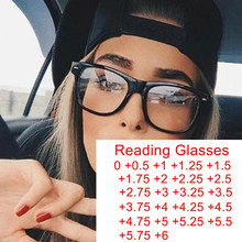 Gafas cuadradas con bloqueo de luz azul para presbicia, anteojos para presbicia, protección para pantalla de ordenador, gafas de aumento de 0 a 6