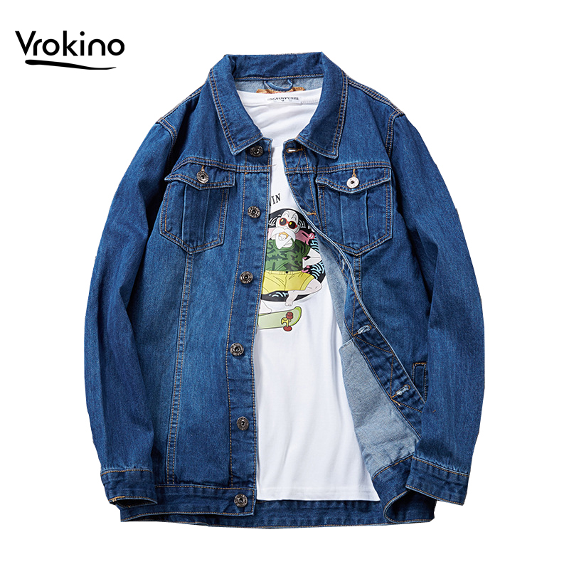 7XL 8XL 2019 Autumn And Winter New Style Men's Large Size Denim Jacket Casual Gold Style Personality Fashion Denim Shirt Male