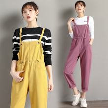 5 Colors Jumpsuit Women Loose Denim Overalls for Spring Autumn Female Overall New Fashion Korean Rompers Womens