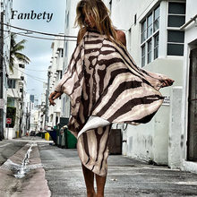 New Sloping Shoulder Long Sleeve Party Dress Casual Sexy Beach Vacation Loose Dresses Fashion Women Striped Irregular Mini Dress