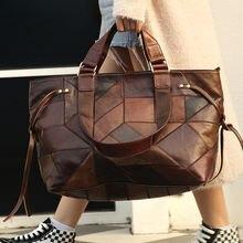Винтажная сумка на плечо из натуральной кожи модная женская
