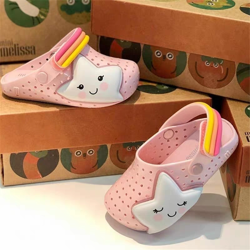 Mini Melissa Rocket Star Boyes Girl Jelly Shoes Beach Sandals 2020 Baby Shoes Melissa Beach Sandals Kids Princess Shoes