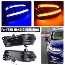 Para ford mondeo mk5 2014-2019 mk v 5 led asa lateral dinâmica transformar a luz do sinal espelho retrovisor indicador acessórios do carro