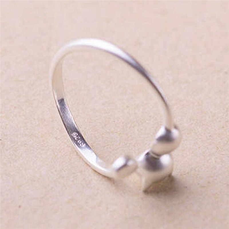 1PC חמוד דוב Paw חתול טופר פתיחת מתכוונן טבעת רוז זהב טבעות לנשים חתונה רומנטית ורוד קריסטל CZ אהבת מתנות תכשיטים