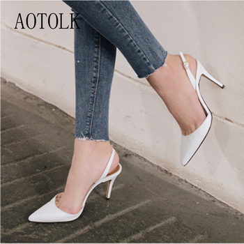 Heels Women Pumps Female Shoes High Heels Fashion Buckle Strape Pointed Toe Wedding Shoes Spring Autumn Casual Shoes Plus Size D new arrival spring autumn plus size 11 12 fashion elegant mature womens shoes cross tied rough with low heels single shoes
