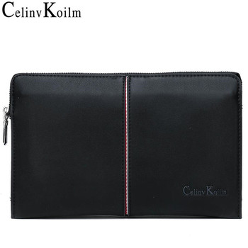Celinv Koilm Luxury Brand Men's Handbag Day Clutches Bags For Phone High Quality Spilt Leather Wallet Hand Bag Large Capacity