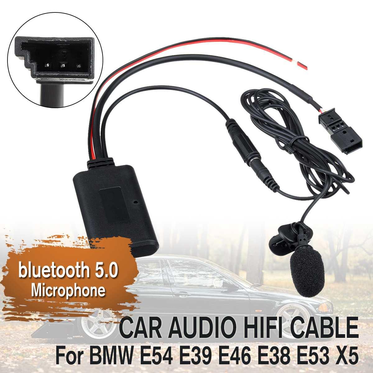 12V Авто Аудио bluetooth 5,0 HIFI кабель для адаптера переменного тока микрофон для BMW E54 E39 E46 E38 E53 X5
