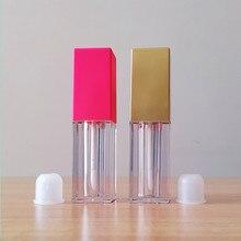 Venta al por mayor, 5ml, botella de labios vacía, tubo de brillo de labios, recipientes de brillo de labios, tubos, botella de Tubo de bálsamo labial, envases par lápiz labial, botella