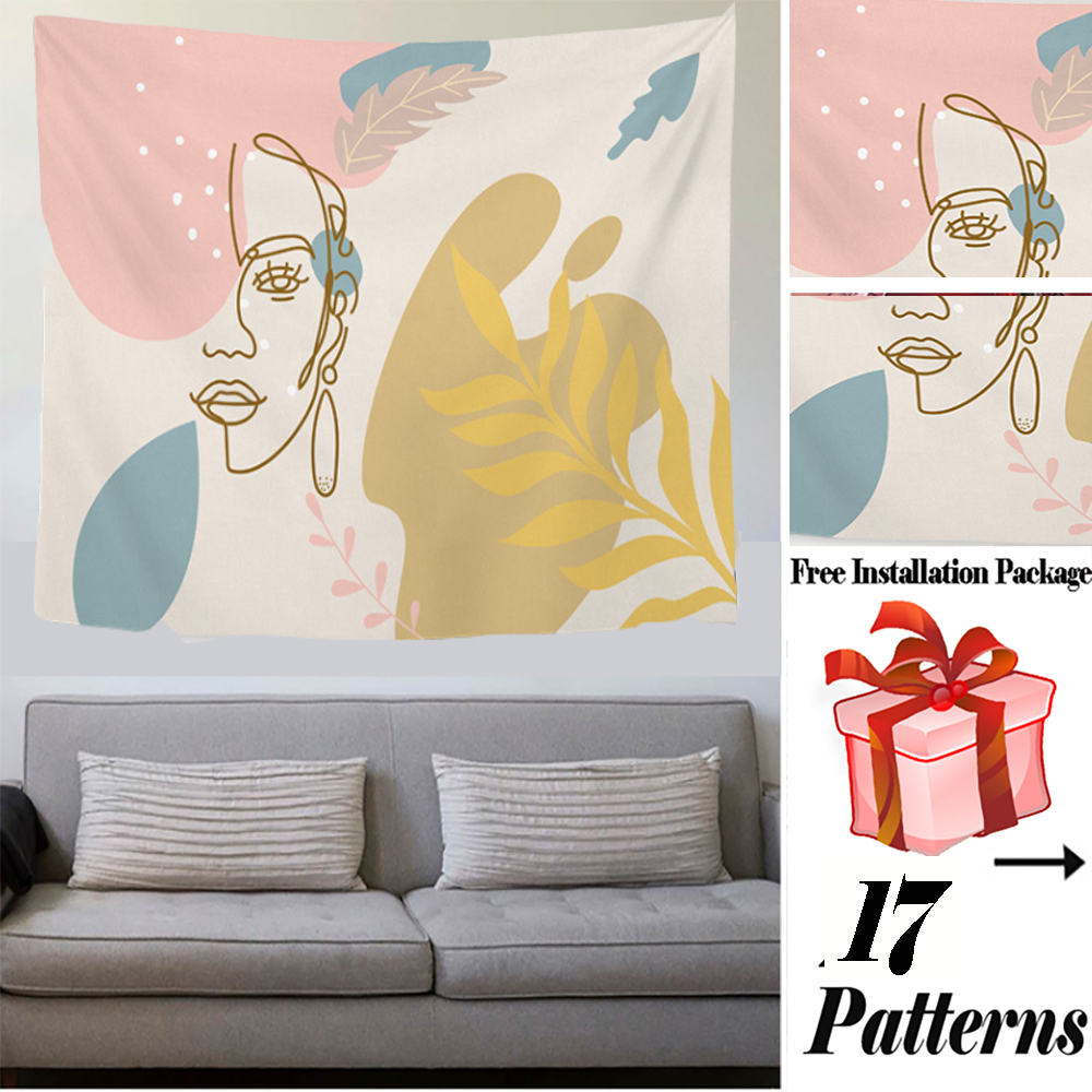 Abstract Painting Wall Hanging Tapestry Blanket Decoration Living Room Art Tapestry Carpet Boho Throw Towel Wall Hanging Macrame