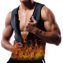 Twinso Hot Thermal Shirts Zipper Sports Top Men Neoprene Sauna Belt Running Vest Fat Burn Waist Trainer Shapewear Warming Jacket