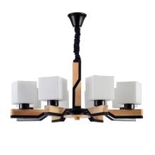Nordic Style Living Room Chandelier Wooden Simple Modern Log Color Art Creative Style Lamps Restaurant Bedroom Den Chandelier crystal restaurant chandelier rectangular hong kong style nordic postmodern light luxurious atmosphere bedroom living room lamps