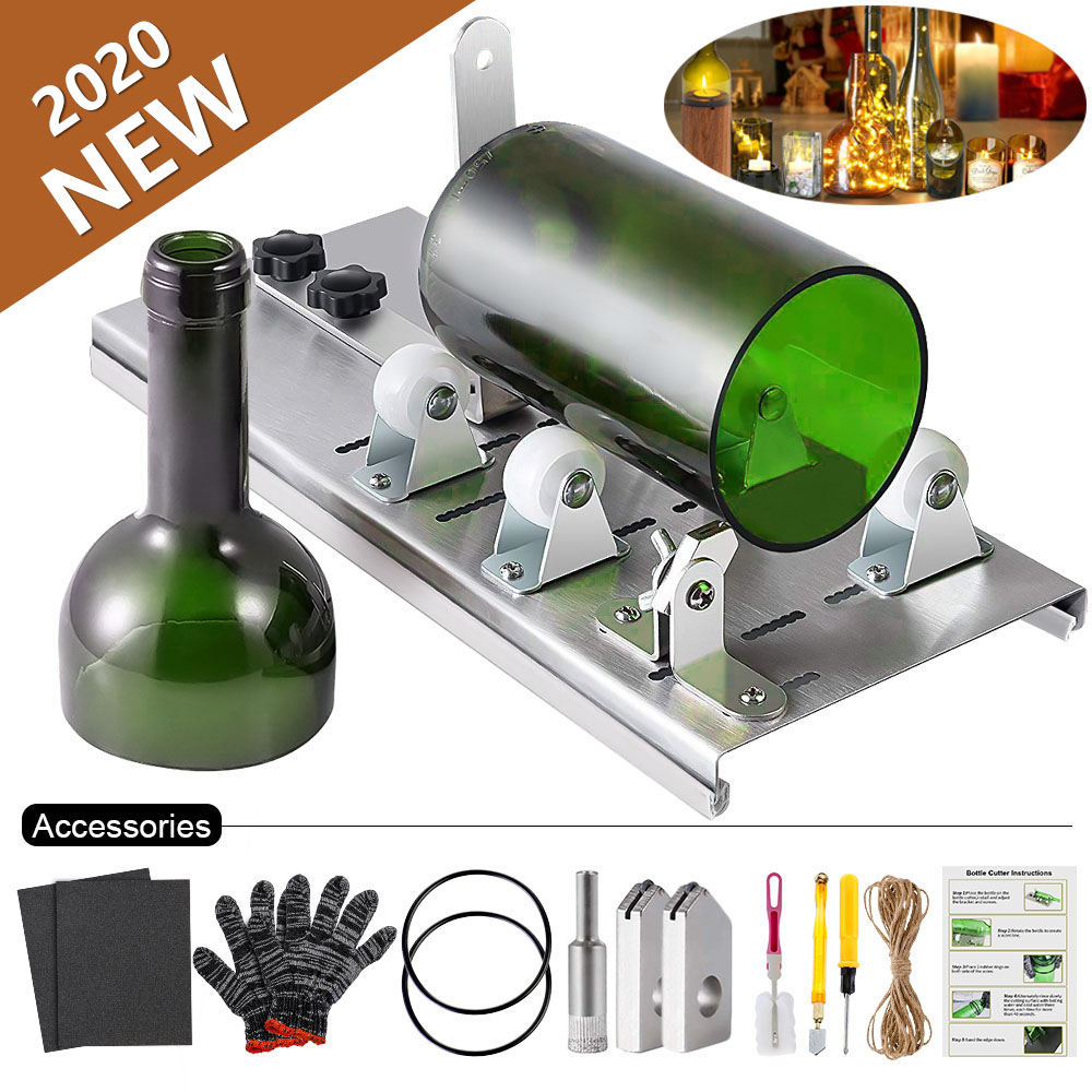 10/15pcs/set DIY Glass Bottle Cutter For Cutting Wine Beer Whiskey Alcohol Champagne Craft Gloves Glasses Accessories Tool Kit