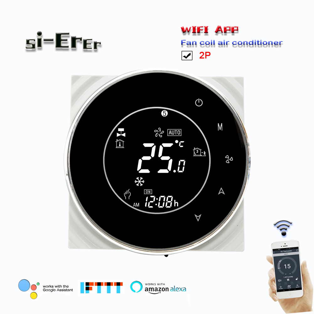 2P Central Air Conditioning Temperature Control-WIFI  Thermostat  Temperature Cool Heat For Accurate 0.5 Degree,95-240VAC