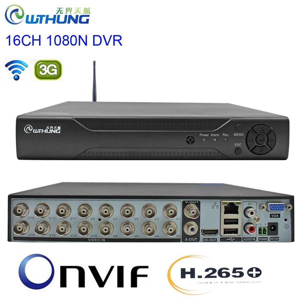 CCTV DVR H.265 + 16CH 1080N 6 en 1 enregistreur vidéo hybride wifi 3G XMEYE P2P Cloud HDMI pour 1080P AHD Tvi Cvi caméra Ip analogique