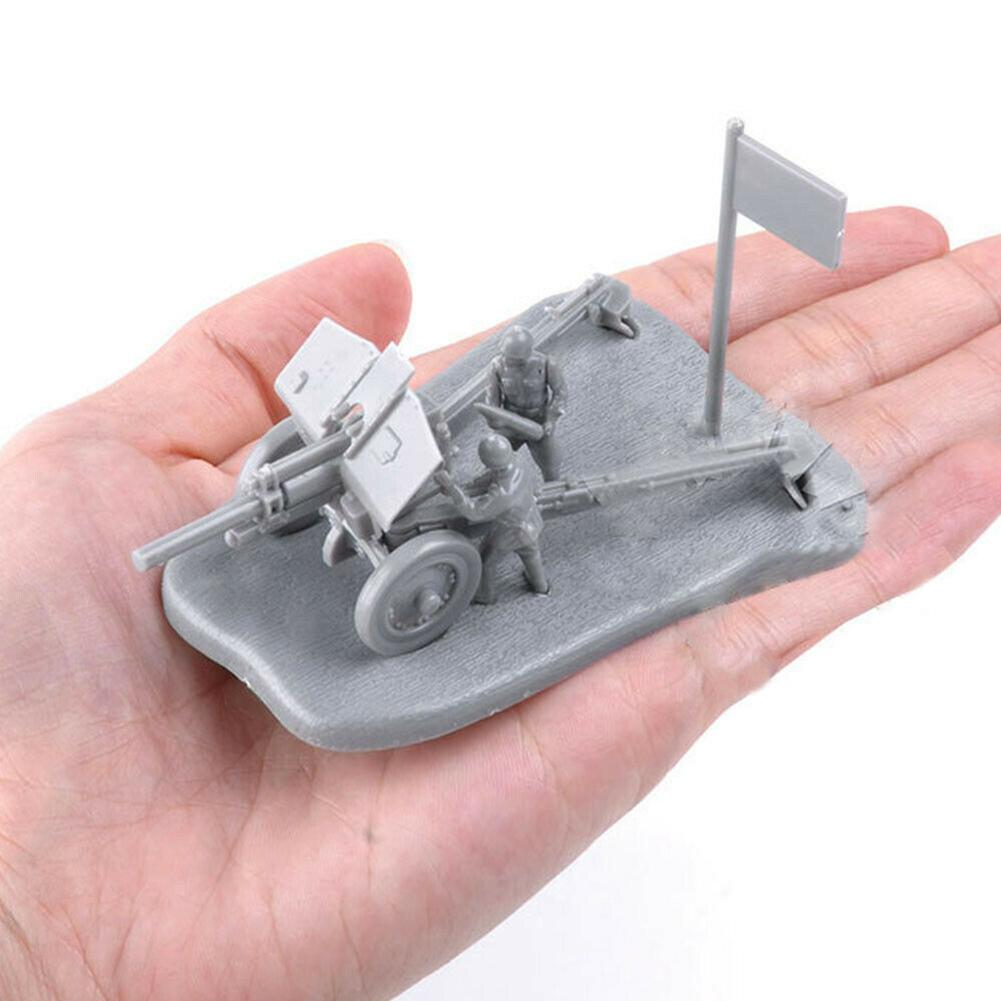 1/72 PAK40 M30 3D Anti Tank Assembly Model Building Puzzles Children Education Toy New