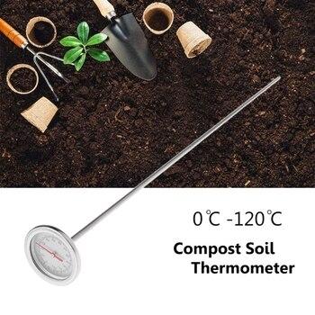 50cm Premium Stainless Steel Compost Soil Thermometer Garden Backyard 0℃-120℃