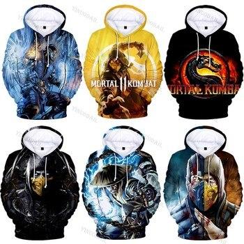 3D Game Mortal Kombat 11 New Hoodies Sweatshirt Anime Cosplay Costume Men Women Kids Jacket Hooded Top printio коврик для мышки круглый абстрактная акварель