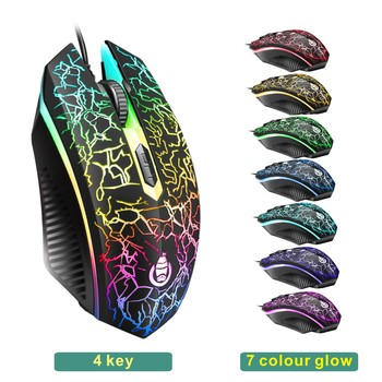 LED Luminous Gaming Keyboard Mouse Combos USB Wired Gamer Kit Backlight Waterproof Multi-Media Keyboard And Mouse Set For PC 2