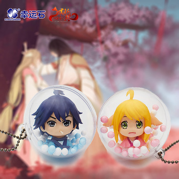 [Fox Spirit Matchmaker] Anime Capsule Toy Bai Yuechu Tushan Susu Honghong New Trendy Manga Role Action figure Gift