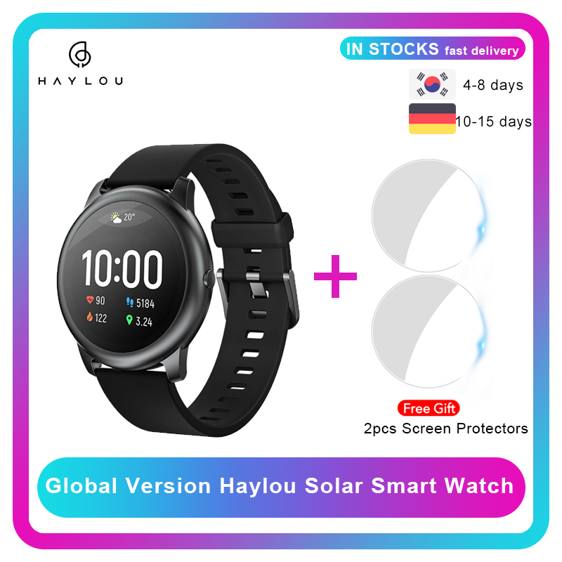 Haylou Solar Smart Watch LS05 Heart Rate Sleep Monitor IP68 Waterproof 30 Day Battery iOS Android  Sport Men Women
