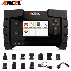 Image 1 - Ancel FX6000 OBD2 Automotive Scanner Full System Diagnostic Tool for Car EPB SAS ABS Airbag AT Scan Tool Erase Errors in Polish