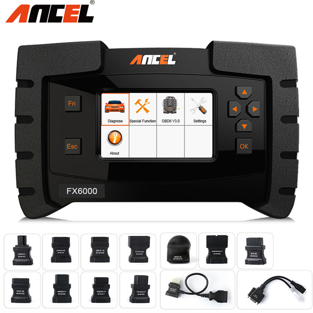 Ancel FX6000 OBD2 Automotive Scanner Full System Diagnostic Tool for Car EPB SAS ABS Airbag AT Scan Tool Erase Errors in Polish