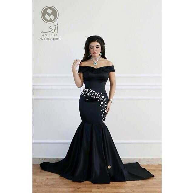 Hot Fashion Robe De Soiree Off-shoulder Mermaid Black Satin Evening Prom Gown Free Shipping 2018 Mother Of The Bride Dresses