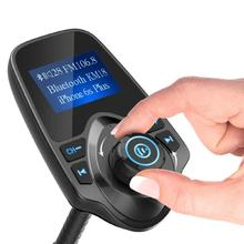 Car Bluetooth Hands-Free Phone FM transmitter Charger MP3 Card Recognition