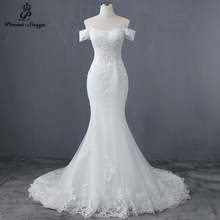 Elegant Boat ncek and Sexy waist style mermaid wedding dress wedding gowns marriage bride dress vestidos de novia robe de mariee