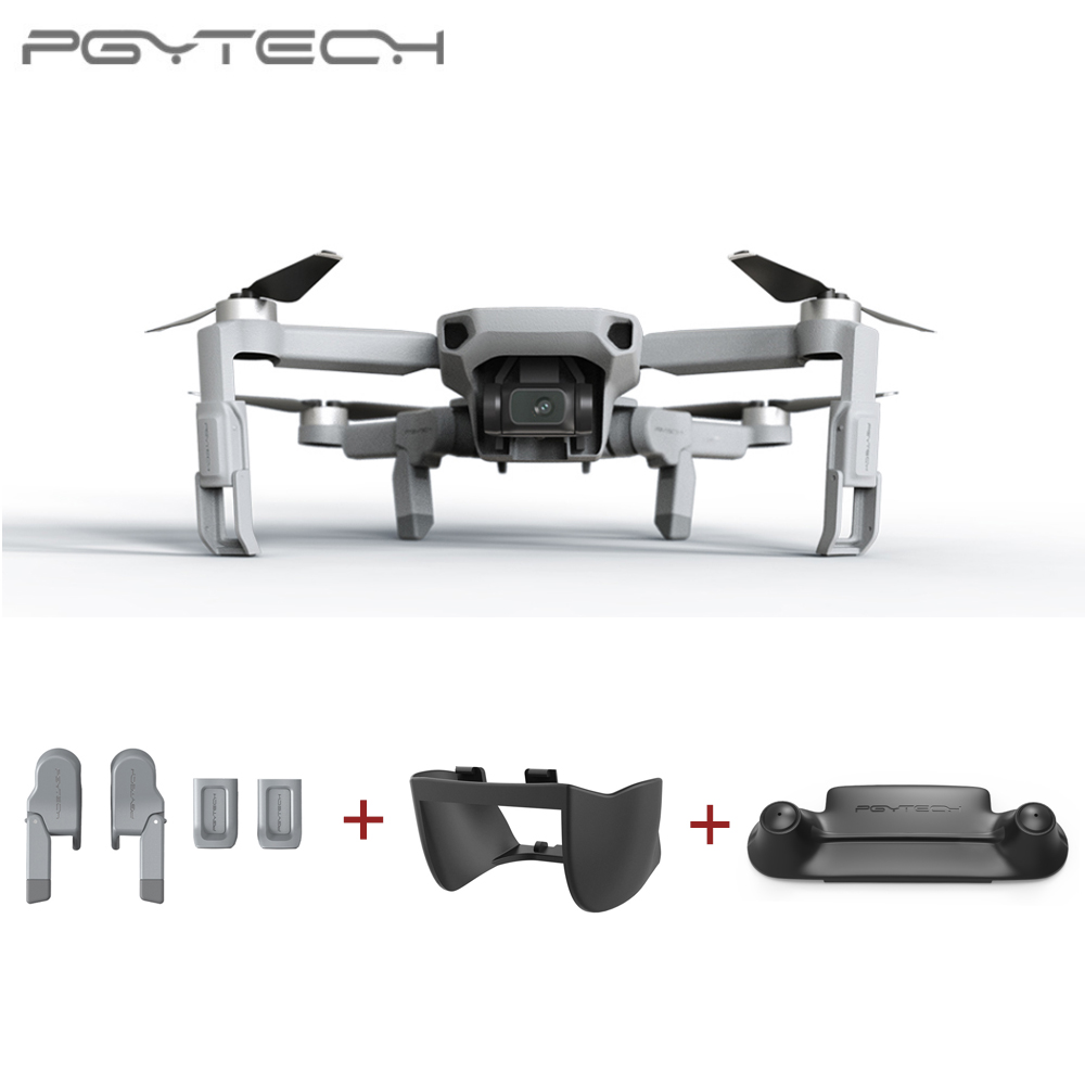PGYTECH 3PCS For DJI Mavic Mini Landing Gear Extension +  Remote Control Guard + Gimbal Lens Hood