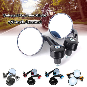 "2pcs Universal 7/8"" Round Bar End Rear Mirrors Moto Motorcycle Motorbike Scooters Rearview Mirror Side View Mirrors(China)"