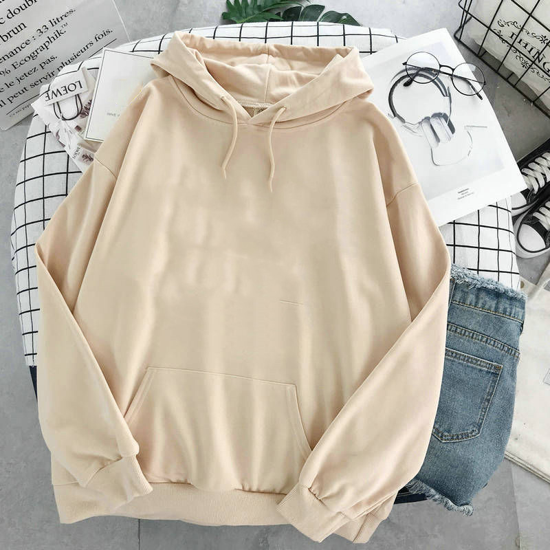 oversized clothes Sweatshirts Women Pink Women's Hoodies Warm Ladies Long Sleeve Casual Hooded Pullover Clothes Sweatshirt 12