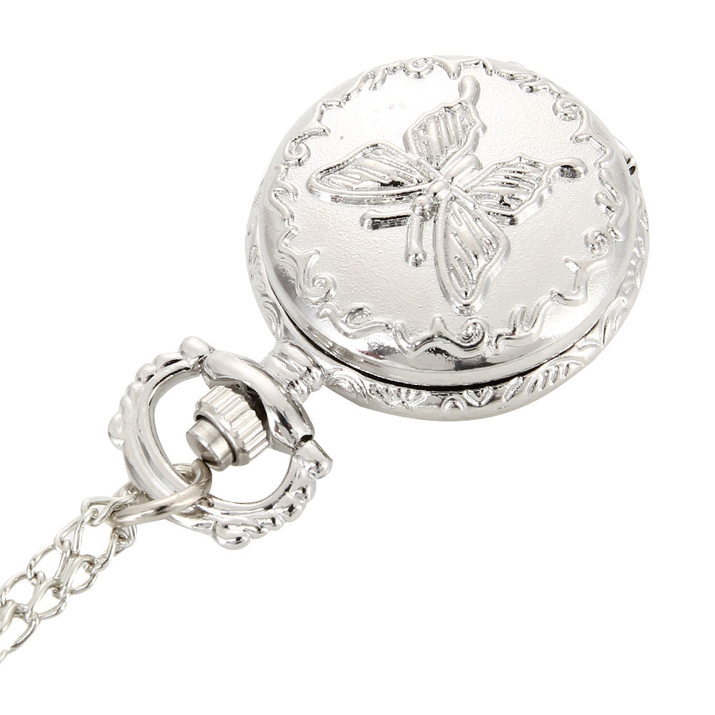 Fashion Vintage Quartz Pocket Watch Alloy Flowers Butterfly Women Lady Girls Necklace Pendant Sweater Chain Clock Gifts UND Sale